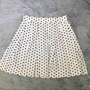 NWOT J Crew Polka Dot Silk Skirt